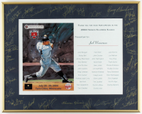 Minnesota Twins 16.25x20.25 Custom Framed 2004 Harmon Killebrew Klassic Card Display Signed by (35) with Harmon Killebrew, Brooks Robinson, Greg Coleman, Johnny Blanchard, Tony Olivia (JSA ALOA) at PristineAuction.com