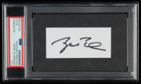 George W. Bush Signed 3x5 Cut (PSA Encapsulated) at PristineAuction.com