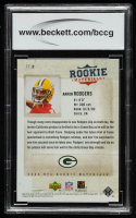 Aaron Rodgers 2005 Upper Deck Rookie Materials Stars of Tomorrow #ST2 (BCCG 10) at PristineAuction.com