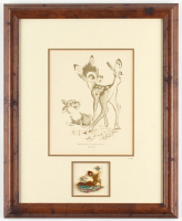 "Disney's ""Bambi"" 14x17.25 Custom Framed LE Fan Card Display with Gold Finished Pin (See Description) at PristineAuction.com"