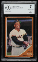 Willie Mays 1962 Topps #300 (BCCG 7) at PristineAuction.com