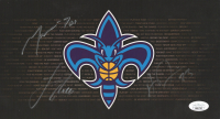 Anthony Davis, Lance Thomas, & Marcus Thornton Signed Hornets 6x11 Photo (JSA COA) at PristineAuction.com