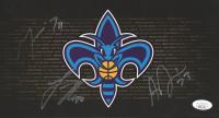 Anthony Davis, Lance Thomas, & Marcus Thorton Signed Pelicans 6x11 Photo (JSA COA) at PristineAuction.com