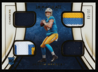 Justin Herbert 2020 Immaculate Collection Immaculate Quad Jerseys #3 at PristineAuction.com