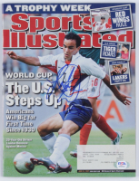 "Landon Donovan Signed 2002 Sports Illustrated Magazine Inscribed ""USA"" (PSA COA) at PristineAuction.com"