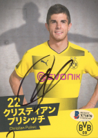 Christian Pulisic Signed 5x7 Photo Card (Beckett COA) at PristineAuction.com
