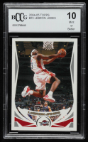 LeBron James 2004-05 Topps #23 (BCCG 10) at PristineAuction.com