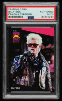 Billy Idol Signed 1991-92 Superstars MusiCards #188 (PSA Encapsulated) at PristineAuction.com