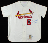 "Stan Musial Signed Cardinals Jersey Inscribed ""3x MVP"" (Beckett Hologram & MLB Hologram) at PristineAuction.com"