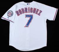"Ivan Rodriguez Signed Rangers Jersey Inscribed ""HOF 17"" (Beckett COA) (See Description) at PristineAuction.com"