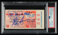 """Nolan Ryan Signed Original 1969 World Series Game Ticket Inscribed """"1969 Miracle Mets"""" (PSA Encapsulated) at PristineAuction.com"""