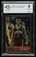 Allen Iverson 1996-97 Topps Chrome #171 RC (BCCG 8) at PristineAuction.com