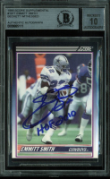 """Emmitt Smith Signed 1990 Score Supplemental #101T RC Inscribed """"HOF 2010"""" (BGS Encapsulated) at PristineAuction.com"""