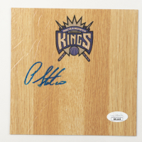 Peja Stojakovic Signed Kings 6x6 Floor Piece (JSA COA) at PristineAuction.com