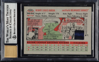 Hank Aaron Signed 2005 Topps Heritage Real One Autographs #HA (BGS Encapsulated) at PristineAuction.com