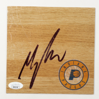 Myles Turner Signed Pacers 6x6 Floor Piece (JSA COA) at PristineAuction.com