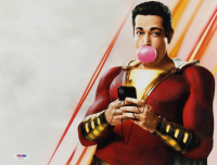 """Zachary Levi Signed """"Shazam!"""" 11x14 Photo (PSA Hologram) at PristineAuction.com"""