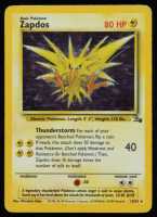Zapdos 1999 Pokemon Fossil Unlimited #15 HOLO R at PristineAuction.com