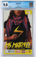"""2014 """"Ms. Marvel"""" Issue #1 Marvel Comic Book (CGC 9.0) at PristineAuction.com"""