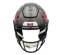 "Ronde Barber & Warren Sapp Signed Buccaneers Full-Size Authentic On-Field SpeedFlex Helmet Inscribed ""SB XXXVII Champs"" (Radtke COA) at PristineAuction.com"
