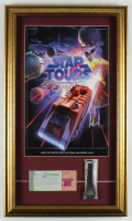 "Disneyland ""Star Tours"" 15.5x26.5 Custom Framed Print Display with Star Tours Ride Digital Watch & Vintage Ticket Book at PristineAuction.com"