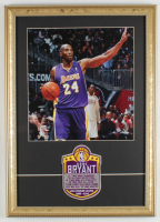 Kobe Bryant Lakers 16x21 Custom Framed Photo Display with Career Achievements Cloth Patch at PristineAuction.com