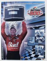 Dale Earnhardt Jr. Signed 23x30 NASCAR 2005 Daytona 500 Photo on Canvas (Dale Jr. Hologram & COA) at PristineAuction.com
