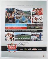 Dale Earnhardt Jr. Signed NASCAR 2014 Daytona 500 Program Cover 24x30 Photo on Canvas (Dale Jr. Hologram & COA) at PristineAuction.com