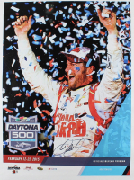 Dale Earnhardt Jr. Signed 22x29 NASCAR 2015 Daytona 500 Photo on Canvas (Dale Jr. Hologram & COA) at PristineAuction.com