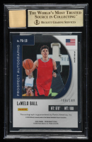 LaMelo Ball 2020-21 Panini Prizm Draft Picks Prospect Autographs Blue #3 RC (BGS 9.5) at PristineAuction.com
