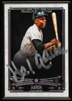 Hank Aaron 2015 Topps Museum Collection Framed Museum Collection Autographs Black #MCHA at PristineAuction.com