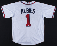 Ozzie Albies Signed Braves Jersey (Beckett COA) at PristineAuction.com