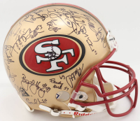 1997 49ers Full-Size Authentic On-Field Helmet Team-Signed by (54) with Jerry Rice, Steve Young, Kevin Greene, Rod Woodson (Beckett LOA) at PristineAuction.com