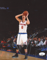 Kristaps Porzingis Signed Knicks 8x10 Photo (JSA COA) at PristineAuction.com