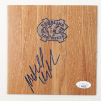 Mitch Kupchak Signed North Carolina Tar Heels 6x6 Floor Piece (JSA COA) at PristineAuction.com