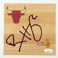 Ron Harper Signed Bulls 6x6 Floor Piece (JSA COA) at PristineAuction.com