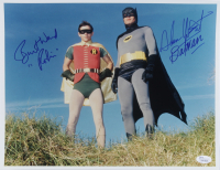 "Adam West & Burt Ward Signed ""Batman"" 11x14 Photo Inscribed ""Batman"" & ""Robin"" (JSA COA) at PristineAuction.com"