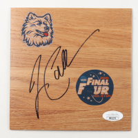 Jim Calhoun Signed UConn Huskies 6x6 Floor Piece (JSA COA) at PristineAuction.com