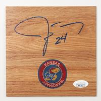 Jeff Withey Signed Kansas Jayhawks 6x6 Floor Piece (JSA COA) at PristineAuction.com