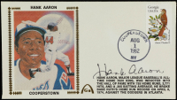 Hank Aaron Signed 1982 Braves FDC Envelope (JSA COA) at PristineAuction.com