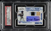 Hank Aaron 2005 Absolute Memorabilia Tools of the Trade Autograph Swatch Triple #122 (PSA 9) at PristineAuction.com