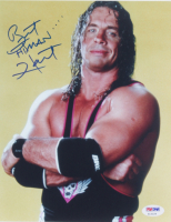 "Bret ""Hitman"" Hart Signed 8x10 Photo (PSA COA) at PristineAuction.com"