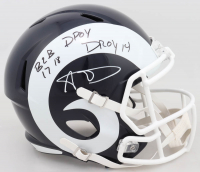 Aaron Donald Signed Rams Full-Size Speed Helmet with (2) Inscriptions (JSA COA) at PristineAuction.com