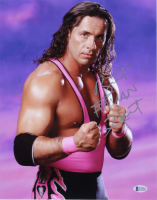 "Bret ""Hitman"" Hart Signed WWE 11x14 Photo (Beckett COA) at PristineAuction.com"