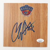 Cole Aldrich Signed Kansas Jayhawks 6x6 Floor Piece (JSA COA) at PristineAuction.com