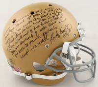 "Rudy Ruettiger Signed Notre Dame Fighting Irish Full-Size Helmet with ""5 Ft Nothin"" Speech Inscription (JSA COA) at PristineAuction.com"