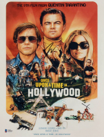 """Once Upon a Time in Hollywood"" 11x14 Photo Cast-Signed by (4) with Brad Pitt, Leonardo DiCaprio, Quentin Tarantino, & Margot Robbie (Beckett LOA) at PristineAuction.com"