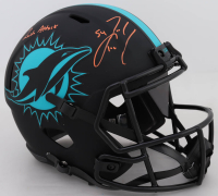 "Zach Thomas Signed Dolphins Full-Size Eclipse Alternate Speed Helmet Inscribed ""Zach Attack"" (JSA COA) at PristineAuction.com"