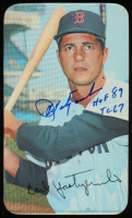 "Carl Yastrzemski Signed 1970 Topps Jumbo Trading Card Inscribed ""HOF 89"" & ""TC 67"" (JSA COA) at PristineAuction.com"