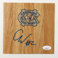 Coby White Signed North Carolina Tar Heels 6x6 Floor Piece (JSA COA) at PristineAuction.com